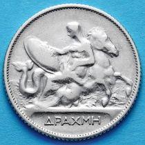 Греция 1 драхма 1910 год. Серебро.