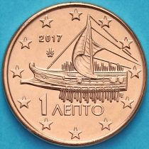 Греция 1 евроцент 2017 год.