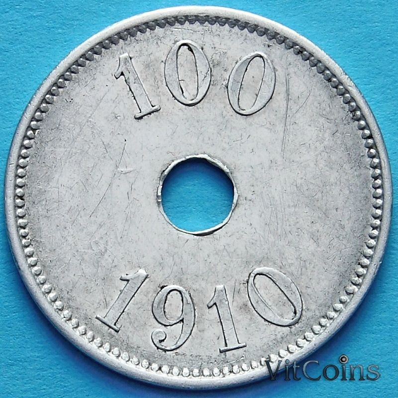 Монета Гренландии 100 эре 1910 год.