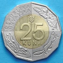 Хорватия 25 кун 2016 год. 25 лет независимости.