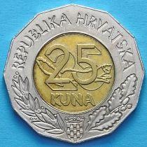 Хорватия 25 кун 1997 год. Придунайский район Хорватии.