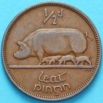 Ирландия 1/2 пенни 1949 год. Свинья.