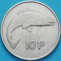 Ирландия 10 пенсов 1969 год. Атлантический лосось.