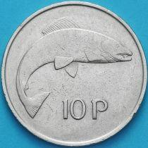 Ирландия 10 пенсов 1973 год. Атлантический лосось.