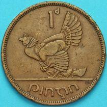 Ирландия 1 пенни 1941 год. Курица.