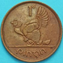 Ирландия 1 пенни 1943 год. Курица.