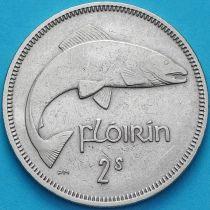 Ирландия 2 шиллинга (флорин) 1951 год. Атлантический лосось.