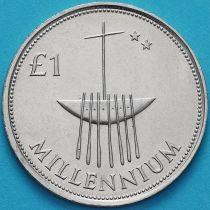Ирландия 1 фунт 2000 год. Миллениум.