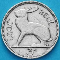 Ирландия 3 пенса 1963 год. Заяц.