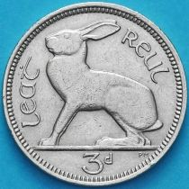 Ирландия 3 пенса 1964 год. Заяц.