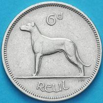 Ирландия 6 пенсов 1959 год. Ирландский волкодав.