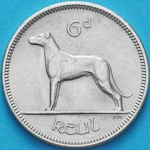 Ирландия 6 пенсов 1962 год. Ирландский волкодав.