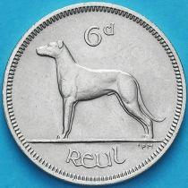 Ирландия 6 пенсов 1968 год. Ирландский волкодав.