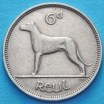 Ирландия 6 пенсов 1947-1956 год. Ирландский волкодав.