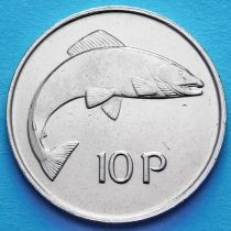 Ирландия 10 пенсов 1969-1986 год. Атлантический лосось. аUNC.