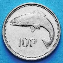 Ирландия 10 пенсов 1993-1999 год. Атлантический лосось. UNC.