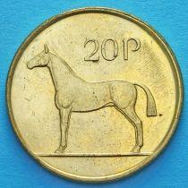Ирландия 20 пенсов 1986-2000 год. Ирландская охотничья лошадь. XF