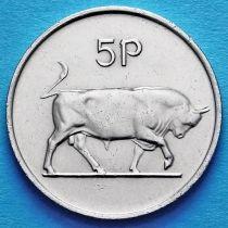 Ирландия 5 пенсов 1969-1990 год. Бык. UNC.