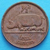 Ирландия 1/2 пенни 1939-1967 год. Свинья.