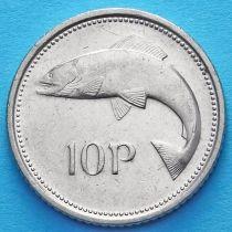 Ирландия 10 пенсов 1993-1999 год. Атлантический лосось. XF.