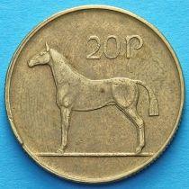 Ирландия 20 пенсов 1986-1995 год. Ирландская охотничья лошадь. VF.