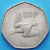 Ирландия 50 пенсов 1970-1997 год. Вальдшнеп. XF.