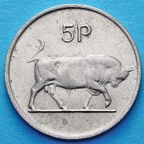 Ирландия 5 пенсов 1969-1990 год. Бык. XF.