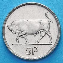 Ирландия 5 пенсов 1992-2000 год. Бык. XF.