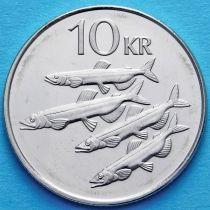 Исландия 10 крон 2008 год. Мойвы