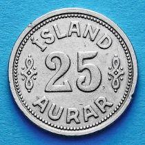 Исландия 25 эйре 1940 год.