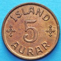 Исландия 5 эйре 1931 год.