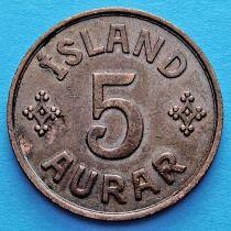 Исландия 5 эйре 1940 год.