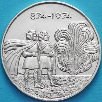 Исландия 1000 крон 1974 год. Первые поселенцы.