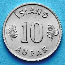 Лот 20 монет. Исландия 10 эйре 1963 год.
