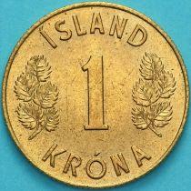 Исландия 1 крона 1970 год.