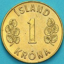 Исландия 1 крона 1973 год.