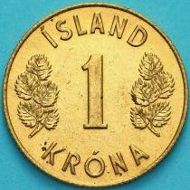 Исландия 1 крона 1974 год.