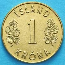 Лот 20 монет. Исландия 1 крона 1974-1975 год.