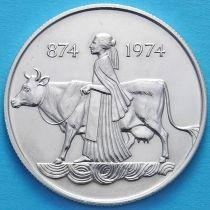 Исландия 500 крон 1974 год. Первые поселенцы. Серебро.