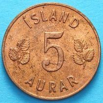 Исландия 5 эйре 1965 год.