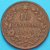 Италия 10 чентезимо 1894 год.