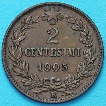 Италия 2 чентезимо 1905 год.