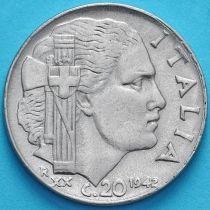 Италия 20 чентезимо 1942 (XХ) год. Магнитная.