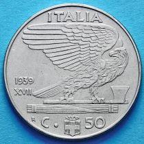 Италия 50 чентезимо 1939 год. XVII. Магнитная.