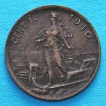 Италия 1 чентезимо 1910 год.