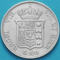 Италия, Сицилия 120 грано 1834 год. Серебро.