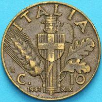 Италия 10 чентезимо 1941 год.