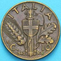 Италия 10 чентезимо 1942 год.