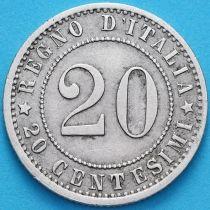 Италия 20 чентезимо 1895 год. R