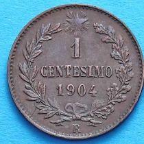 Италия 1 чентезимо 1904 год.